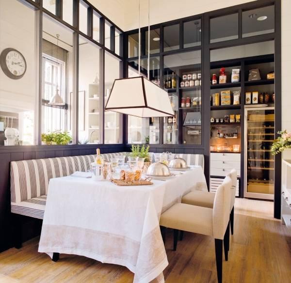 Окно в интерьере - дизайн кухни 2015
