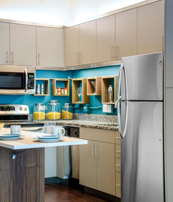 Дизайн маленькой кухни в квартире лофте