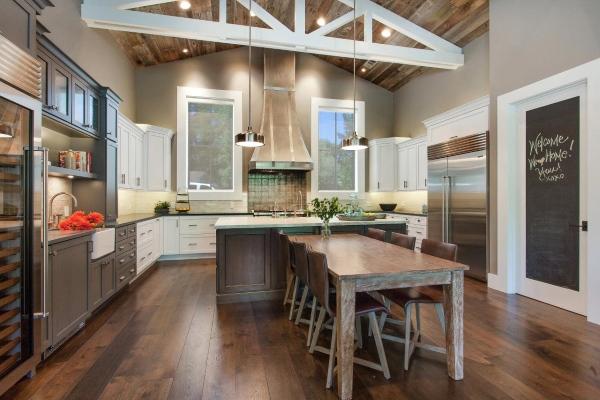Модный серый цвет в дизайне кухни