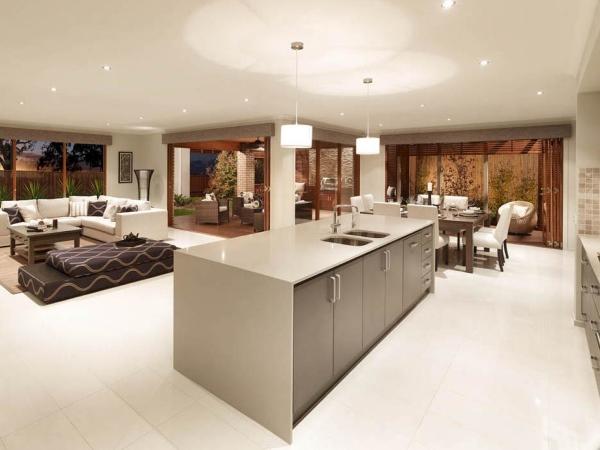 Серая мебель для кухни 2015