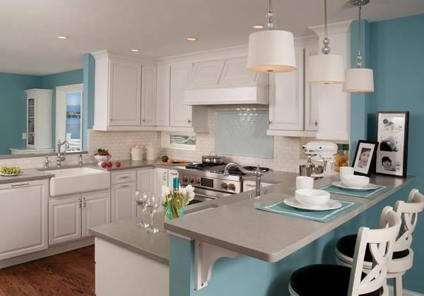 Серый цвет в дизайне кухни 2015