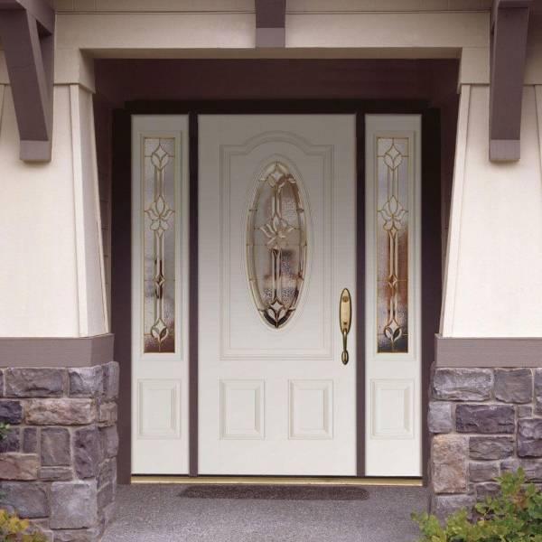 Шикарные входные двери со стеклопакетами