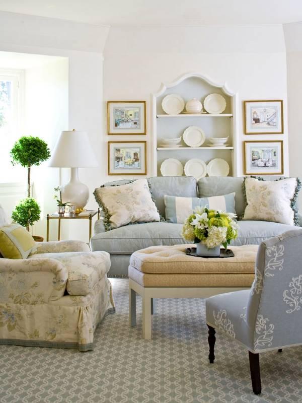 Декорирование гостиной в стиле прованс