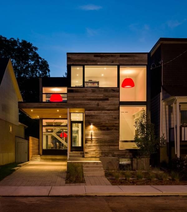 Проект дома с навесом для машины вместо гаража