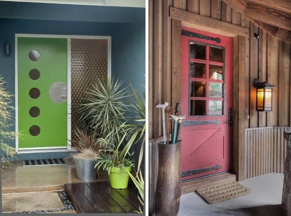 Современные металлические двери в разном цвете