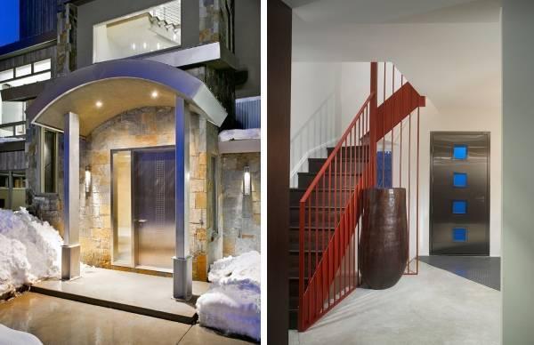Стальные входные двери в дизайне дома