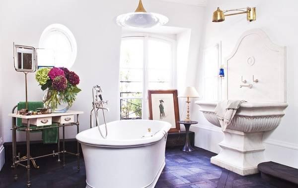 Декорирование ванной комнаты в традиционном стиле