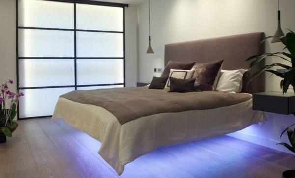 Дизайн спальни со светодиодной подсветкой