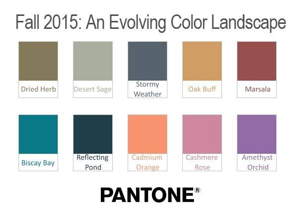 Модный цвета - тренды осени 2015 от Pantone