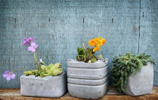 Стильные горшки для растений своими руками