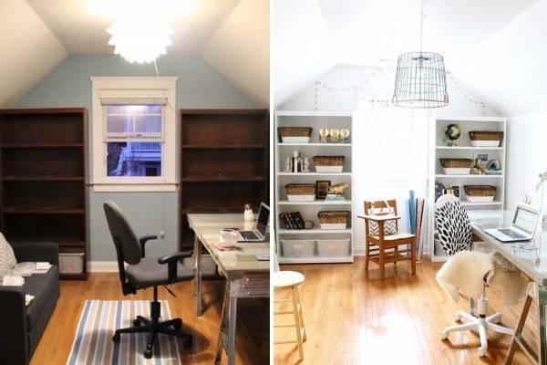Новый дизайн комнаты на чердаке