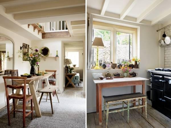 Дизайн кухни в деревенском скандинавском стиле