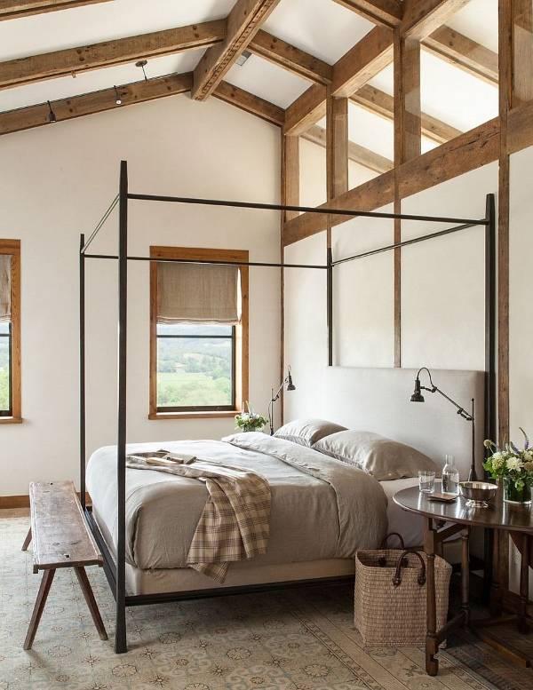 Внутренний дизайн частных домов - современная спальня