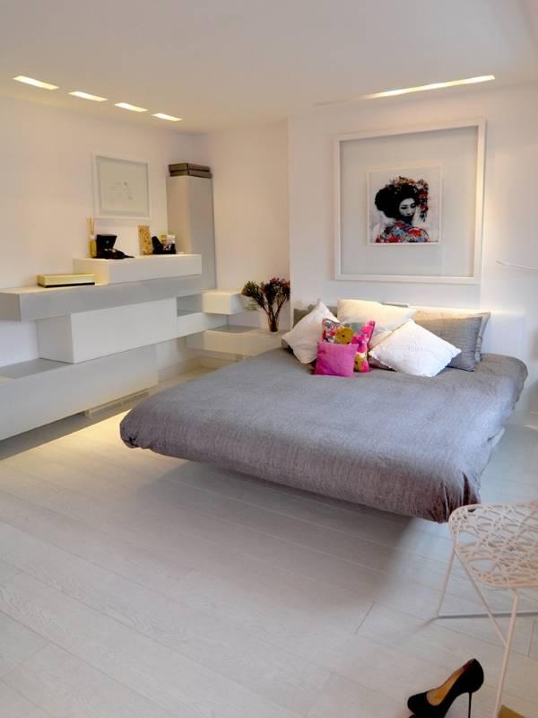 Женская спальня в стиле минимализм