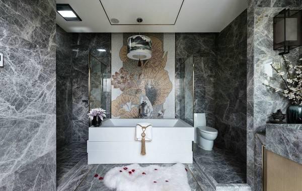 Роскошный дизайн ванной в китайском стиле