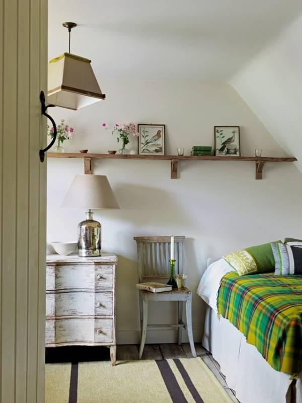 Дизайн гостевой спальни в частном доме в стиле кантри