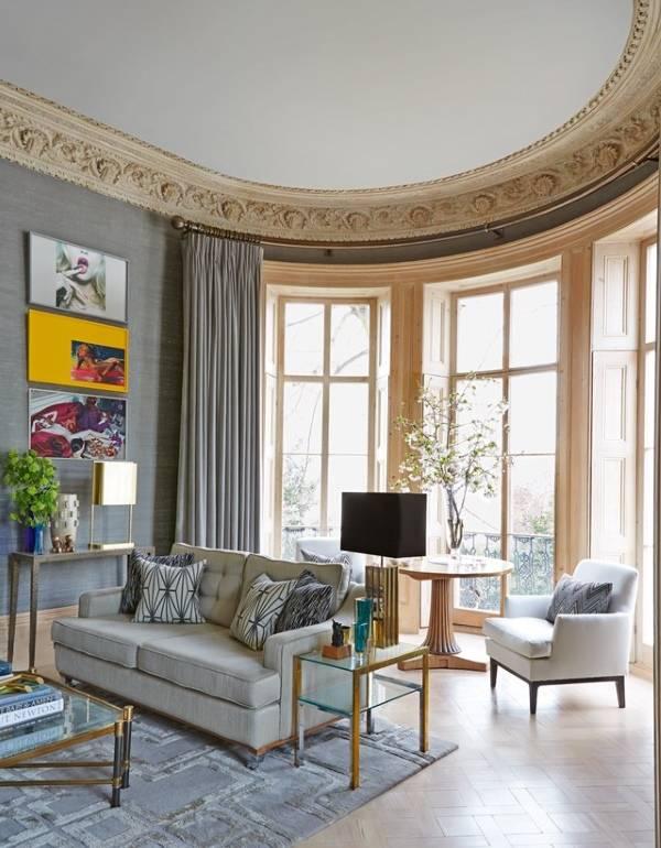 Полукруглая комната в частном доме - внутренний дизайн