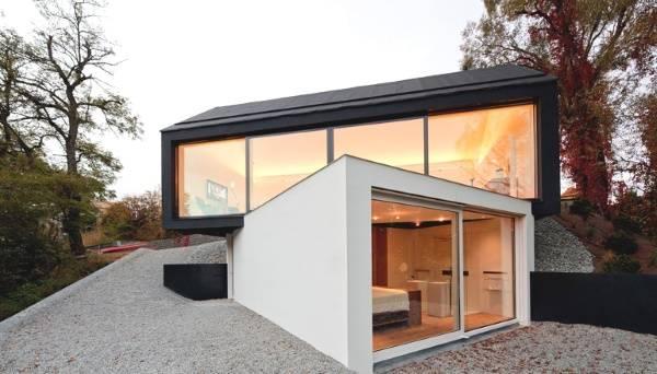 Необычный дизайн двухэтажного частного дома