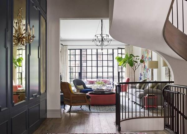 Внутренний дизайн частного дома - стильная гостиная