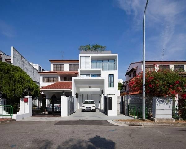 Фото трехэтажного частного дома