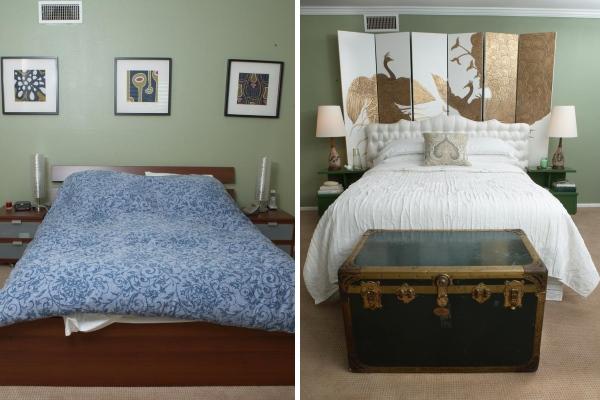 Интерьер спальни частного дома до и после ремонта