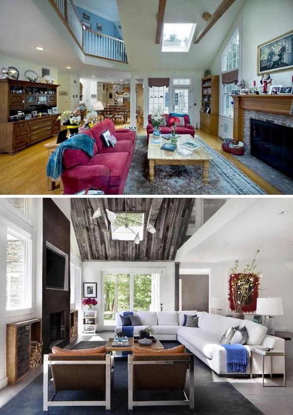 Фото интерьера частного дома до и после