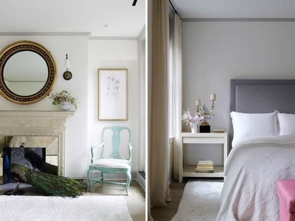 Современный необычный дизайн спальни в частном доме