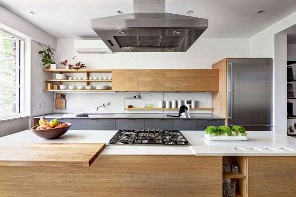 Современный дизайн кухни частного дома