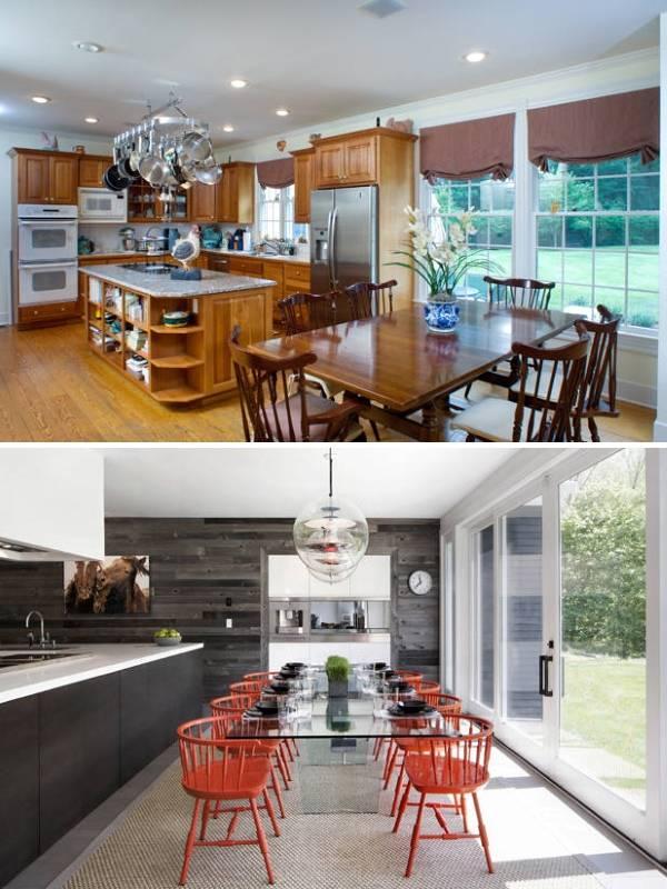 Дизайн кухни в частном доме фото до и после
