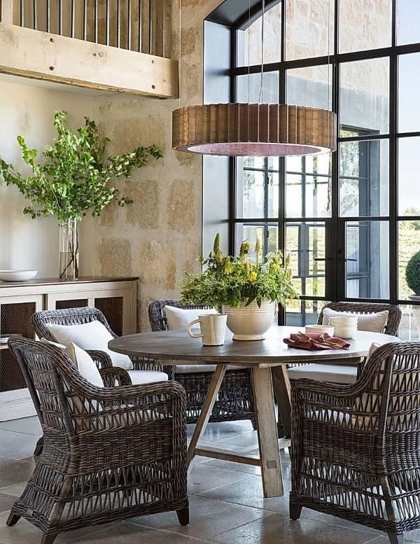 Дизайн кухни и столовой в стиле эко
