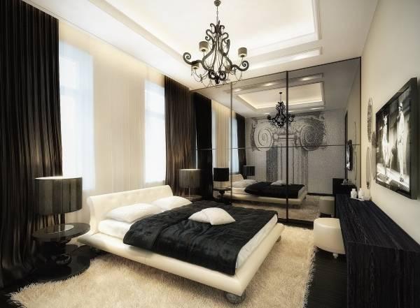 Дизайн спальни частного дома в стиле luxury