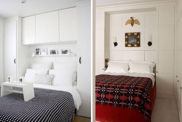 Маленькие спальни со встроенной мебелью