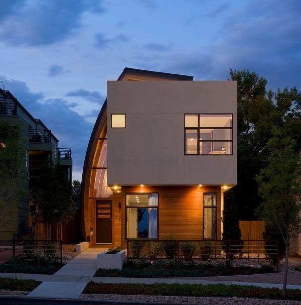 Необычная архитектура современного частного дома