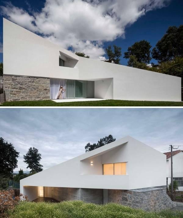 Красивый дизайн двухуровневого частного дома