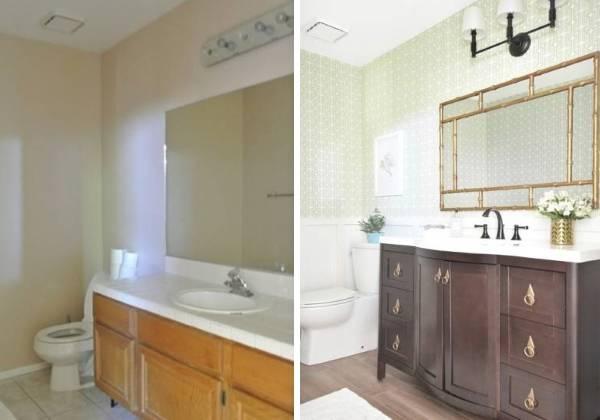 Новый дизайн санузла в частном доме до и после