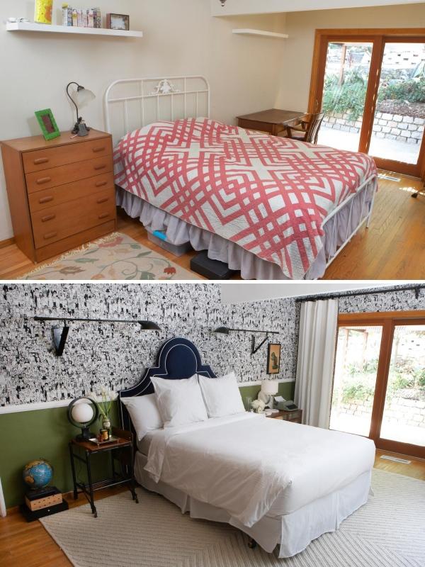 Новый дизайн спальни в частном доме