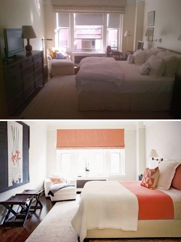 Новый яркий дизайн спальни фото до и после