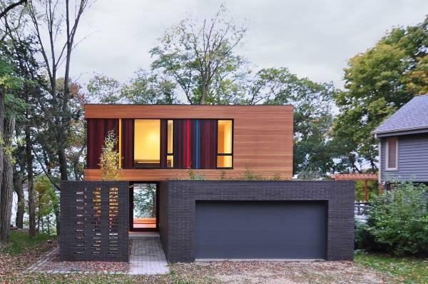 Оригинальный дизайн частного дома на два этажа