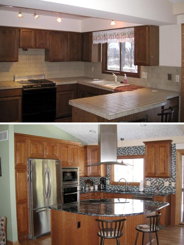 Перепланировка кухни и новый кухонный остров