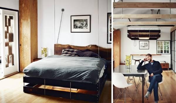 Поднять кровать к потолку