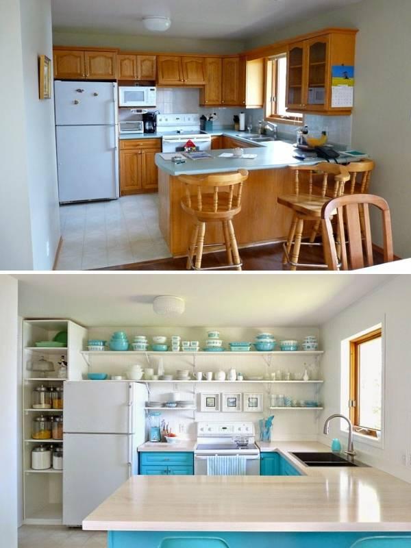 Преображение кухни до и после