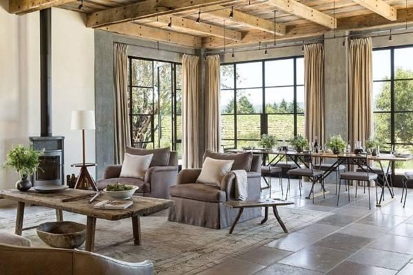 Дизайн интерьера частного дома с открытой планировкой