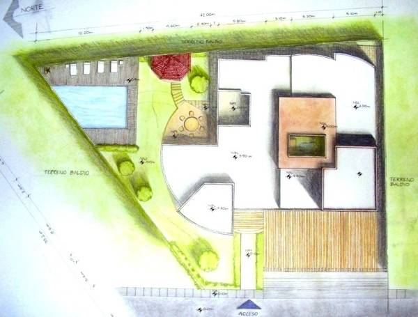 Проект участка и частного дома на нем