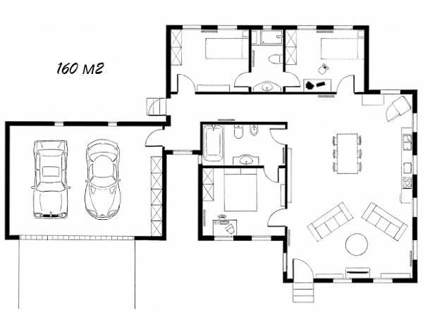 Чертеж проект частного дома своими руками 160 кв м