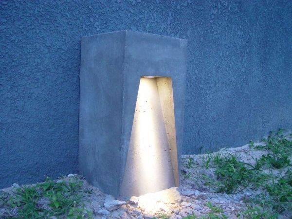 Садовые светильники своими руками из бетона
