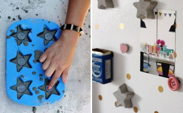 Поделки и аксессуары для дома: бетонные магниты