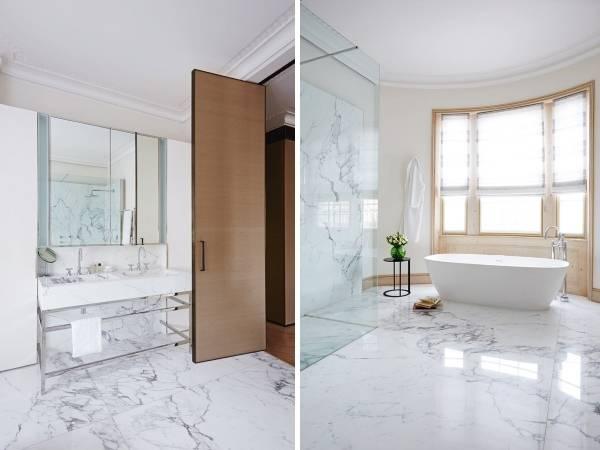 Современный дизайн ванной комнаты в частном доме