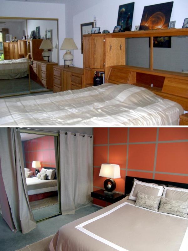 Фото спальни до и после