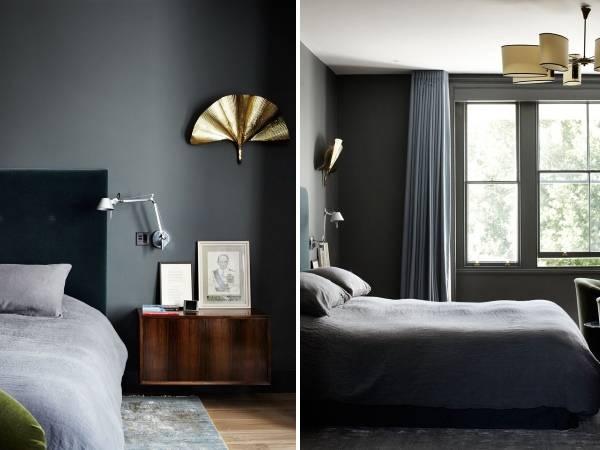 Современный дизайн спальни в частном доме