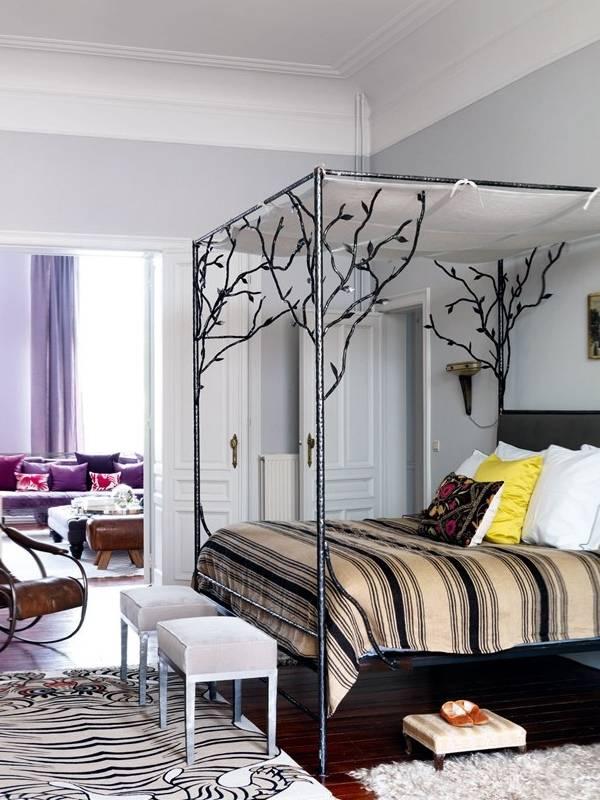 Современный дизайн спальни частного дома фото